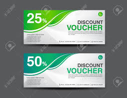 discount e gift cards green gift voucher vector illustration discount template coupon