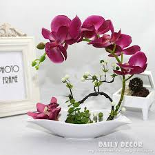 flowers arrangements high simulation artificial orchid flowers arrangements decorative
