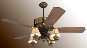Lodge Ceiling Fans With Lights Rustic Log Cabin Ceiling Fans Decoration Allthingschula