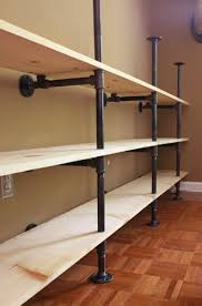 How To Build Shelves In Closet by How To Build Plumbing Pipe Shelves The Cavender Diary