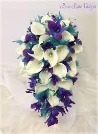 teal flowers purple and teal wedding flowers wedding corners