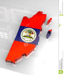 Belize Flag 3d Flag Map Of Belize Stock Illustration Image Of Button 5249436