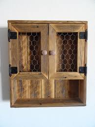 reclaimed wood wall cabinet reclaimed wood curio wall cabinet chicken wire doors by