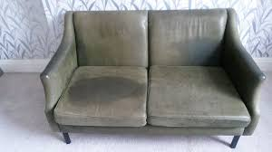 small 2 seater 1950 u0027s leather sofa in crystal palace london