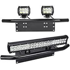 Light Rack Amazon Com Nilight Led Light Bar Mounting Bracket Front License