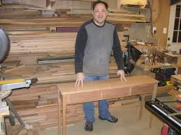 cherry sofa snack table midnight woodworking