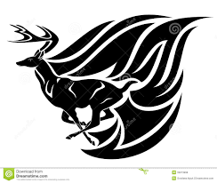 black white design running deer vector stock vector illustration of design 33873968
