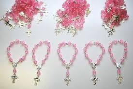baptism recuerdos 30 x recuerdos bautizo mini rosary baptism favors pink
