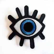 eye patch big blue eye iron on patches eyelash evil
