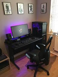 Gaming Setup Desk Best 25 Desk Setup Ideas On Pinterest Computer Setup Gaming