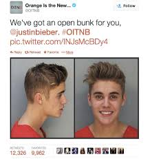 Orange Is The New Black Meme - the orange is the new black response to justin bieber the shorty