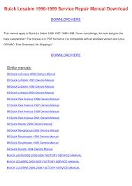 buick lesabre 1996 1999 service repair manual by emmadarby issuu