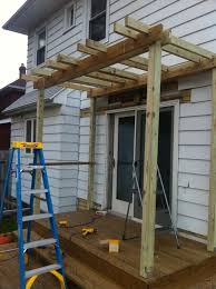 Attached Pergola Plans by 71 Best Attached Pergolas Images On Pinterest Pergola Ideas