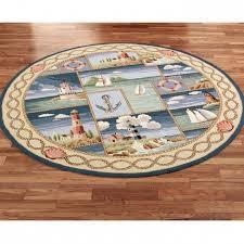 Round Nautical Rugs Nautical Theme Coastal Kitchen Rugs Ideas Picture 95 Rugs Design