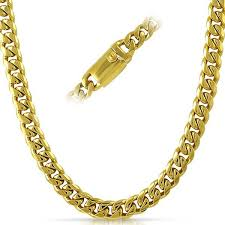 gold metal chain necklace images Gold stainless steel chains hiphopbling jpg