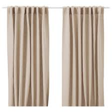 Linen Curtains Ikea Aina Curtains 1 Pair Beige 145x250 Cm Ikea