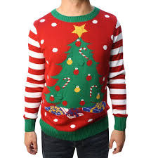 christmas tree sweater with lights ugly christmas sweater teen boy s christmas tree led light up