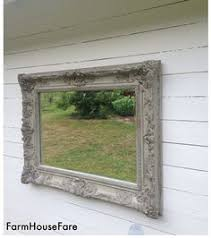 Shabby Chic Large Mirror large wall mirror shabby chic turqoise blue chalk paint ornate