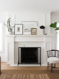 mantle decor with a balanced fireplace design and a serene