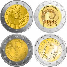 De Flag Slovakia 2 Euro 2015 30th Anniversary Of The Eu Flag Eur30409