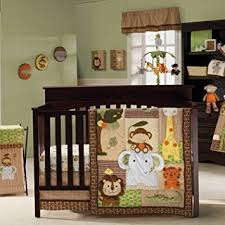 Crib Bedding Jungle Jungle Walk 9 Baby Crib Bedding Set By Kidsline