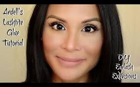Eyelash Extensions Natural Look Lashtite Glue Diy Eyelash Extensions Apply Under My Lashes For A