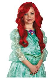 disney princess halloween costumes for adults ariel child wig