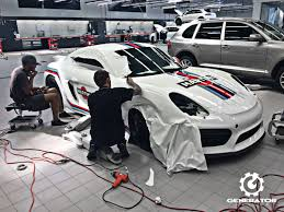 stuttgart porsche factory the porsche cayman gt4 looks so good in martini racing livery that