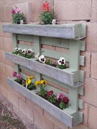 recycled pallet wood planters pallets planters and walls