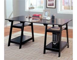 Desks With Shelves by Desks Casual Double Pedestal Desk With Open Shelves By Coaster