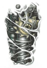 tattoo 3d mechanical souq 3d mechanical arm stickers temporary tattoo waterproof unisex
