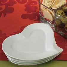 wedding plate heart shaped ceramic wedding party plates candy cake weddings