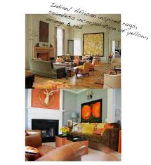 charming orange and yellow living room 22 within home decor
