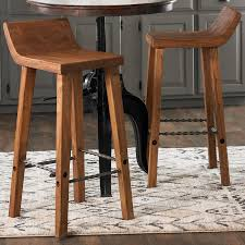 Low Back Bar Stool Solid Wood Low Back Barstool Shades Of Light