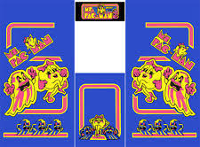 Ms Pacman Cabinet Pacman Side Art Replacement Parts Ebay