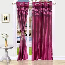 Curtains Plum Color by Eyda Leaf Applique Door Curtain Plum