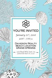 Office Opening Invitation Card Jax Beach Real Estate Office Davidson Realty Blog
