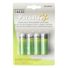 Walmart Solar Light by Paradise Ba25400lt4 400 Mah Solar Light Replacement Batteries