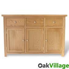 Solid Oak Buffet by Oakley Large Sideboard Oak Village