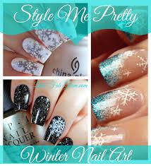 lush fab glam blogazine style me pretty winter snowflakes nail art