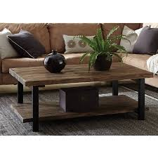 brown square coffee table pomona large coffee table rustic natural walmart com