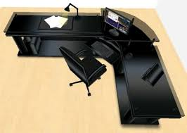 Cheap Black Corner Desk Second Marketplace Led Midnight Black Corner Office Desk