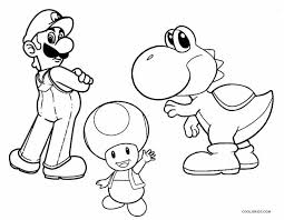 printable yoshi coloring pages kids cool2bkids