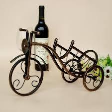 tyjj 016b retro style iron bicycle design grape wine rack creative