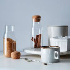 glass u0026 cork canisters set of 2 on food52