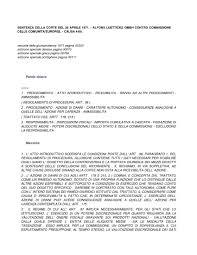 dispense giurisprudenza caso lutticke dispense