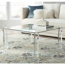 acrylic and glass coffee table bristol square clear acrylic coffee table style 1g404 clear