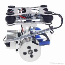 Diy Drone 2017 F06885 Aluminum 2 Axis Gimbal Camera Mount Ptz Steady With