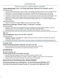 Sample Resume For Sales Associate by Marketing Director Resume Example