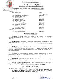 september 20 special non working holiday iligan city of